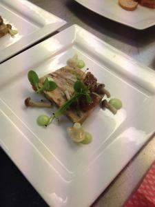 Pork Terrine with Apricot, Pickle and Baby Mushrooms (1)