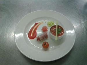 Spanish Gaspacho with serano ham